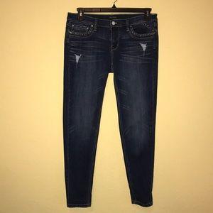 Distressed White House Black Market Skinny Jeans